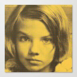 Face of raster Canvas Print