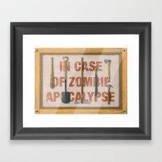 In Case of Zombie Apocalyspe Framed Art Print