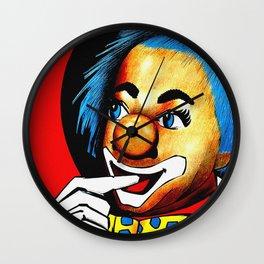 Vintage Dutch Circus Ad - Clown Wall Clock