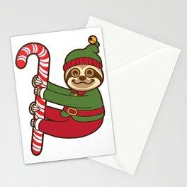 Sloth Elf Stationery Cards