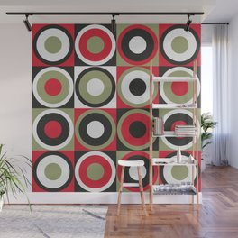 Lucky Strike retro circles Wall Mural