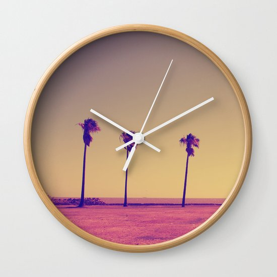 Four Palms In Paradise Wall Clock