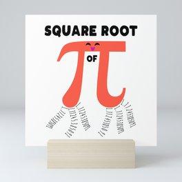 Square Root Of PI Day 2019 Math Teacher Mini Art Print