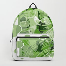 Dove With Celtic Peace Text In Green Tones Backpack