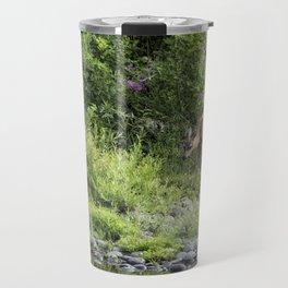 Young Doe Among the Flora, No. 2 Travel Mug