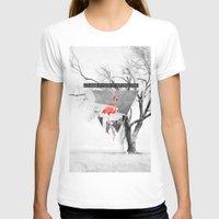 flamingo T-shirts featuring Flamingo by Mehdi Elkorchi