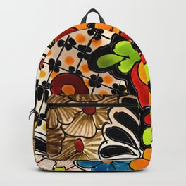Beautiful Red and Green Talavera Backpack
