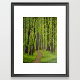 Spring forest Framed Art Print
