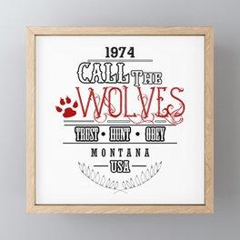 Call of the Wolves Framed Mini Art Print