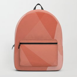 Living Coral Geometric Backpack