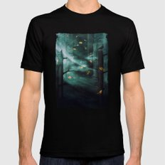 In the Woods Tonight Mens Fitted Tee Black X-LARGE