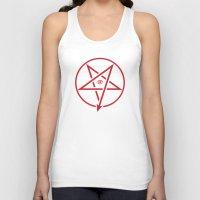 pentagram Tank Tops featuring Adversary Pentagram by Divine Mania