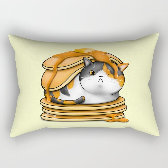 Kitty Pancakes Rectangular Pillow