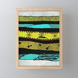 Sideways abstract  Framed Mini Art Print