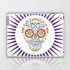 Sugar Skull SF multi 2 - on white Laptop & iPad Skin