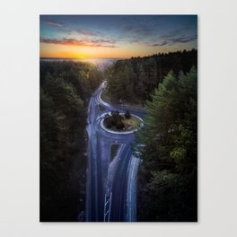 Early morning - Epic Sunrise captured by drone Canvas Print