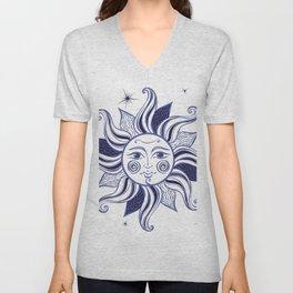 the bright sun Unisex V-Neck