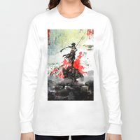 titan Long Sleeve T-shirts featuring Titan Slayer by Al Santiago