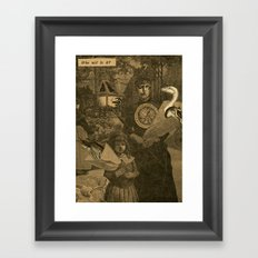 Who will it be? Framed Art Print