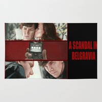 scandal Area & Throw Rugs featuring A Scandal in Belgravia by Alessia Pelonzi