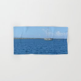 Sail boat in the Turks & Caicos Hand & Bath Towel