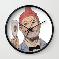 zissou Wall Clocks featuring Zissou by The A B Project
