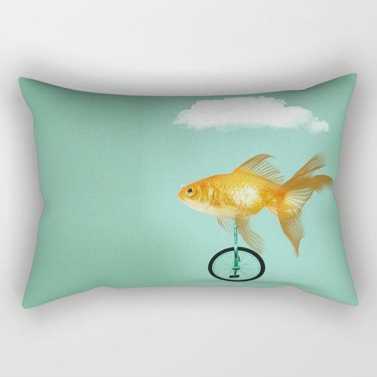 unicyle goldfish III Rectangular Pillow