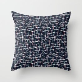 Abstract pattern. Thin vertical, horizontal lines. 2 Throw Pillow
