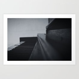 Black and White Piano Art Print