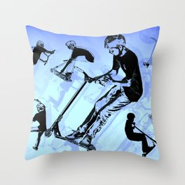 It's All About The Scooter! - Scooter Tricks Throw Pillow