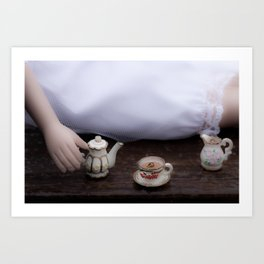 Alice's Escapades ~ Alice & The Tea Party Art Print