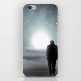 Old Man Walking Towards Heaven iPhone Skin