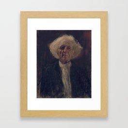 Blind Man Framed Art Print