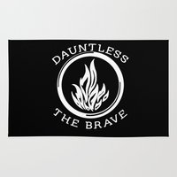 divergent Area & Throw Rugs featuring Divergent -  Dauntless The Brave by Lunil