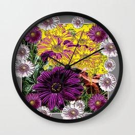 DECORATIVE ARTISTIC GERBERAS FLORAL GARDEN ART Wall Clock