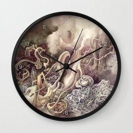 SURREAL COMPOSITION (AQUARELLE)  Wall Clock