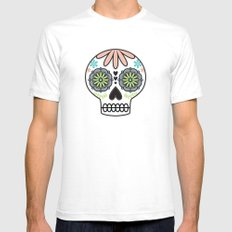 Sugar Skull Mens Fitted Tee SMALL White