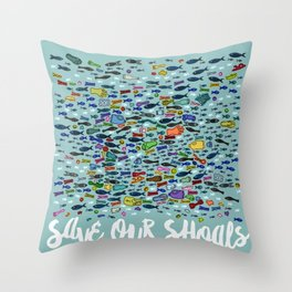 Save Our Shoals Throw Pillow