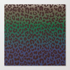 LEOPARD hue-TAUPE GREEN BLUE Canvas Print