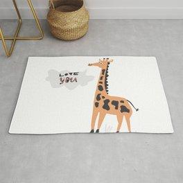 Love Giraffe Rug