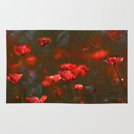 Flaming poppies. Rug