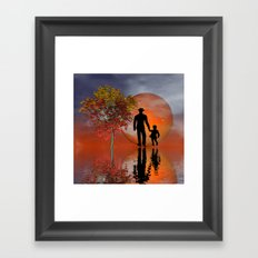 sky is on fire and I must go Framed Art Print
