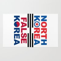 korea Area & Throw Rugs featuring North Korea by pollylitical