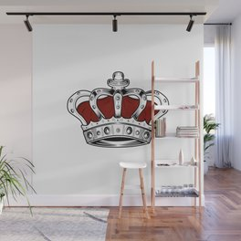 Crown - Red Wall Mural