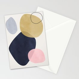 Vintage navy pink beige watercolor hand painted background. Lovely abstract art. Elegent home decor. Stationery Cards