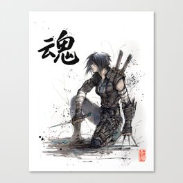 Calligraphy SOUL Ghost in the Shell Motoko Ninja Canvas Print