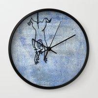 rat Wall Clocks featuring Rat by Michael Shepherd