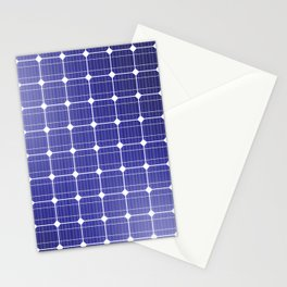 In charge / 3D render of solar panel texture Stationery Cards