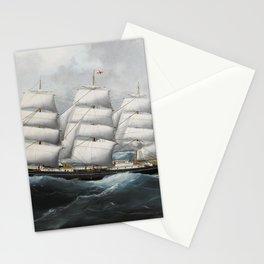 Vintage British Frigate Sailboat Painting (1881) Stationery Cards