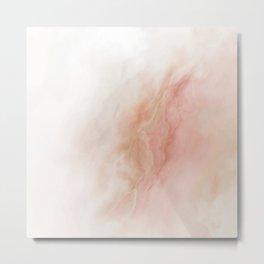 Pastel Marbled agate mineral gem stone Metal Print